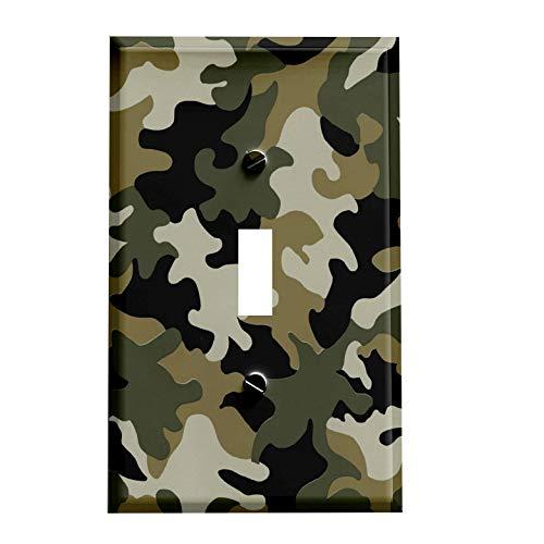 Jungle Army Camo Switchplate - Switch Plate Cover Decorative Single 1 Toggle Wall Decor