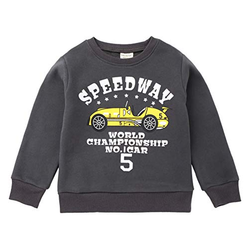 Toddler Baby Sweatshirt Winter,Leegor Sale Children Kids Boy Cartoon Car Letter Print Warm Pullover Clothes Gray (Sale For Jumpers Novelty Christmas)