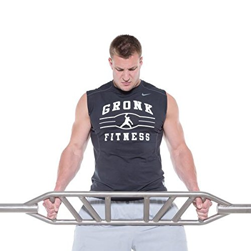 Gronk Fitness Swiss Bar- Commercial Grade Multi Grip Football Bar for Versatile Upper Body Strength Training