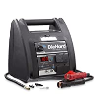 DieHard 2871688 Platinum Portable 1150 Peak Amp 12 Volt Jump Starter & Power Source with 2-USB 2-12V 2-110V Ports & 100 PSI Auto Shutoff Air Compressor