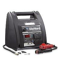 DieHard 71688 Platinum Portable Power 1150 Peak Amp 12 volt Jump Starter & Power Source with 2-USB 2-12V 2-110V Power Ports & 100 PSI Auto Shutoff Air Compressor