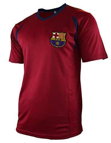 Fc Barcelona Adult Training Jersey Performance Polyester -Shirts - Home -Away (Maroon T1E36, M)