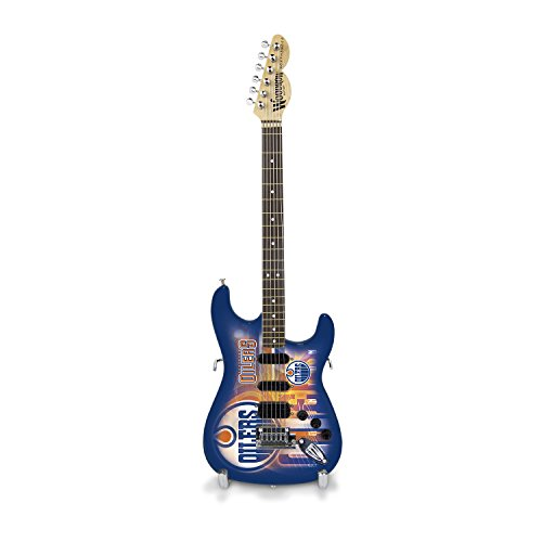 Woodrow Guitar by The Sports Vault NHL Edmonton Oilers Collectible Mini NorthEnder Guitar ()