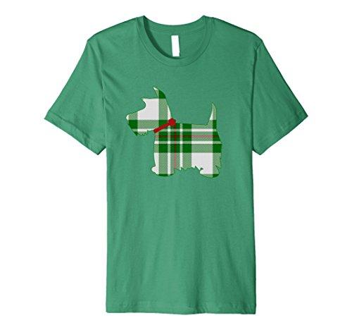 Mens Scottie Dog T Shirt McGregor Tartan Plaid 2XL Kelly Green (T-shirt Dog Scottie)