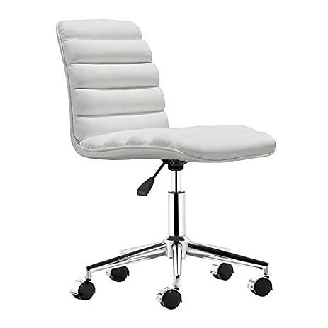 Amazon.com: Zuo Modern Admire Office Chair, White: Kitchen & Dining
