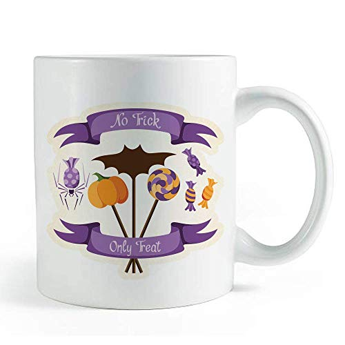 No Trick, Only Treat Halloween Quote - Coffee and Tea Mug]()