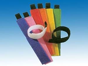 Velcro Cable Ties Juego de cables, 8pcs bandas cuerda, cable de cinta (LHS)