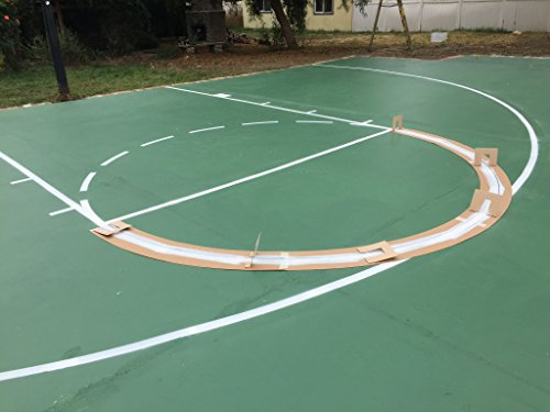 Pro kit stencil ronan sports beautil for Sport court paint