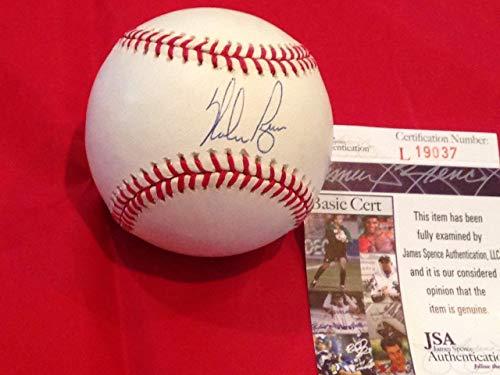 Ryan Nolan Ball (Signed Nolan Ryan Ball - Rangers Astros Hof Holo Coa 1d - JSA Certified - Autographed Baseballs)