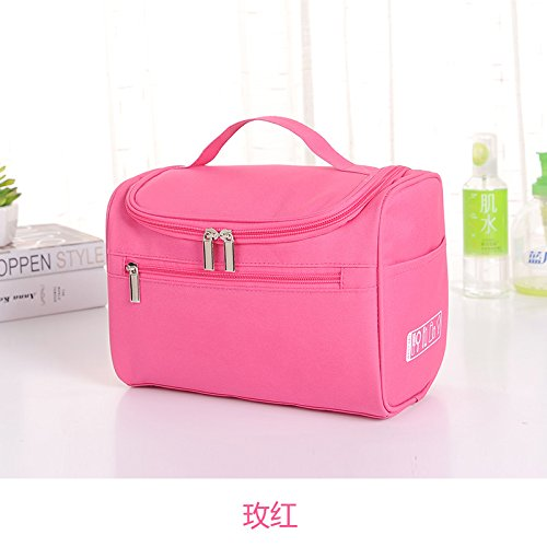 LULAN Tragbare Kosmetiktasche multi-purpose Kosmetik zugeben Taschen reise Kulturtasche reisen große weibliche Wasserdicht, 24 * 17 * 13 cm, rot
