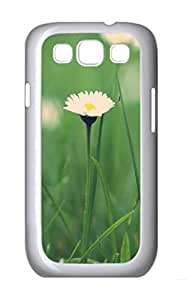Small Daisies Macro Polycarbonate Hard Case Cover for Samsung Galaxy S3 I9300¨C White