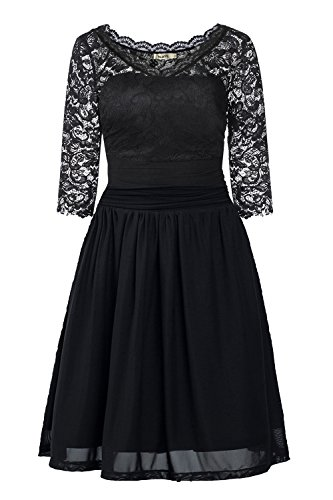 DILANNI-Womens-Vintage-Floral-Lace-23-Sleeve-Cocktail-Party-Tube-Dress-0X-5X