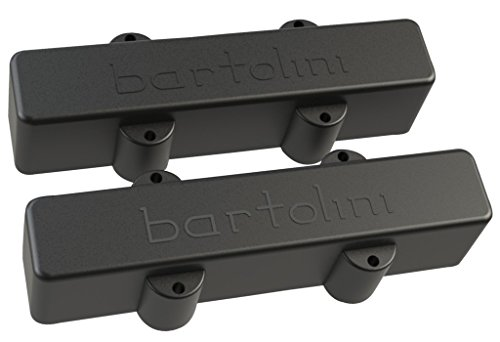Original Jazz Bass Pickup Covers - Bartolini Original Bass Series 4-String J Bass Dual In-Line Pickups Long/Short Set