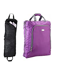 Cabin Sized Business Suit and Dress Carrier Garment Bag - 55x40x18cm - Carry On (Purple)