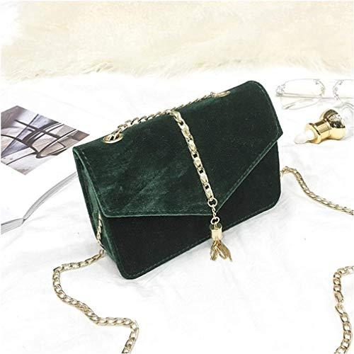 crossbody Borsa vintage tracolla Colore messenger borsa Verde a vovotrade Dimensione borsa mini femminile bag ragazze rosso Rosso tracolla a moda nappa borse rPrq0