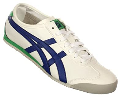 huge discount 5543c 20366 Onitsuka Tiger Mexico 66 Off White Navy Green Canvas Mens ...