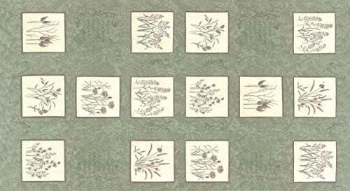 Prairie Style Panels - United Notions & Moda Fabrics Prairie Grass by Holly Taylor Quilt Fabric Pepper Grass Panel Style 6750/12