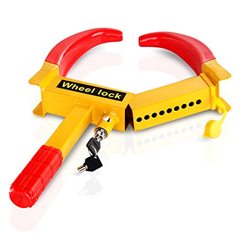Flexzion Wheel Lock Clamp Anti-theft Towing Parking Boot Tire Claw Heavy Duty Rv