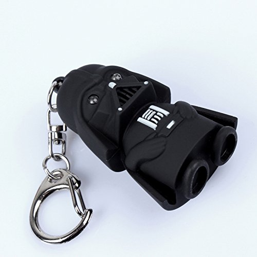 1 Pcs/LED Flashlight Keychain Darth Vader Star War Yoda Keychains Anakin Skywalker Figure Key Ring