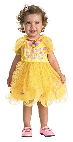 Infant Disney Princess Dress (UHC Baby Girl's Disney Princess Belle Infant Fancy Dress Halloween Costume, 12-18M)