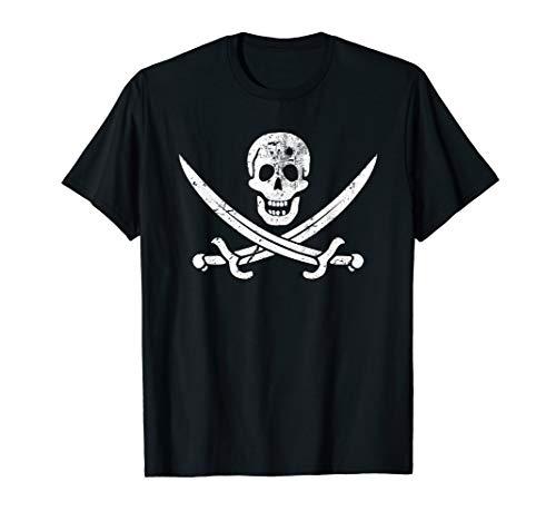 Vintage Calico Jack Jolly Roger Pirate Flag T-shirt