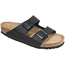 Birkenstock Unisex Arizona Black Oiled Leather Sandals - 11-11.5 2A(N) US Women/9-9.5 D(M) US Men