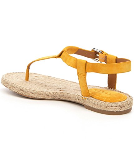Coach Womens Breeze Open Toe Casual Espadrille Sandals, Yellow, Size 5.5
