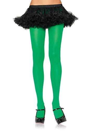 Leg Avenue Opaque Tights - 7300 (Kelly Green) Women's Leg Avenue Opaque Tights