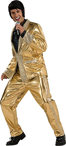 Deluxe Elvis Gold Lame Suit Costume - Small - Chest Size 36