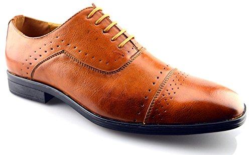 Chaussures Habillées En Cuir Synthétique Pour Homme Classique 8 Tan