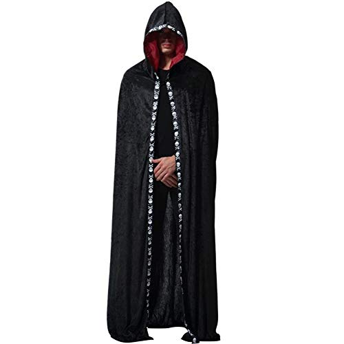 Maibos Men's Tunic Hooded Robe Cloak Cape Halloween Costume for Adults Costume Idea 2019 Black