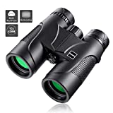 Cheap HUTACT Binoculars for Adults Compact, 10×42 Professional for Bird Watching, Hunting, Safari, Traveler, Concert, HD Green BAK4 Prism FMC Binoculars with Strap and Case, Waterproof and Fogproof
