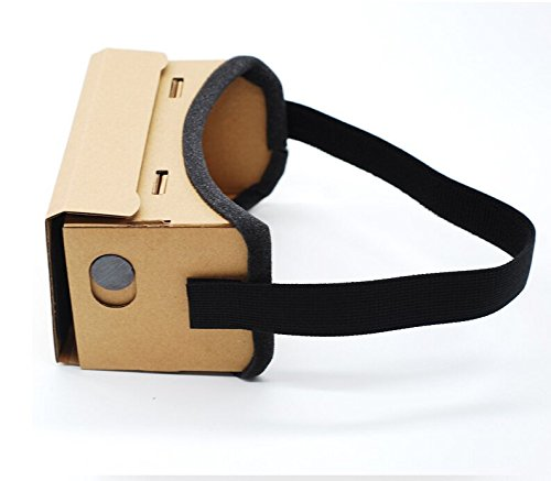 "High quality DIY Magnet Google Cardboard Virtual Reality VR Mobile Phone 3D Viewing Glasses For 5.0"" Screen Google VR 3D Glasses"