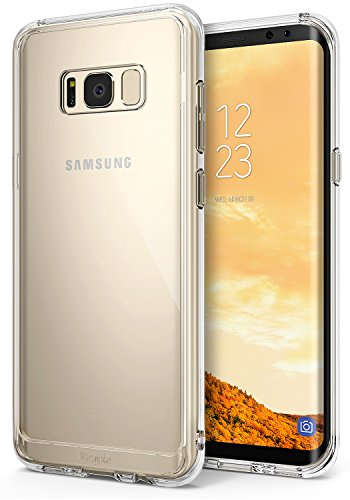 Galaxy S8 Case, Ringke [FUSION] Ergonomic Crystal Clear Transparent PC Back Silicone Bumper Drop Protection Shock Absorption Technology for Samsung Galaxy S8 - Clear