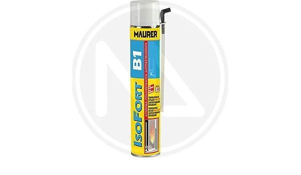 Maurer - Espuma de poliuretano ignífuga Isofort B1, para altas temperaturas, 750 ml: Amazon.es: Bricolaje y herramientas