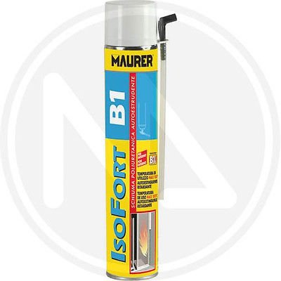 Maurer - Espuma de poliuretano ignífuga Isofort B1, para altas temperaturas, 750 ml