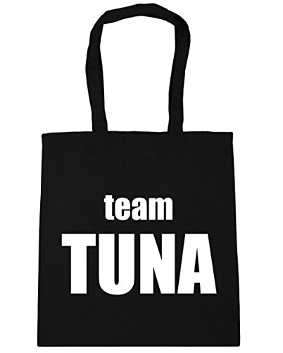 HippoWarehouse Team Tuna office Tote Shopping Gym Beach Bag 42cm x38cm, 10 litres Black