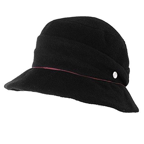 227026a009d Ladies Wool Felt Cloche Hat Winter Hats for Women 1920s Vintage Fedora  Bowler Bucket Hat Packable SIGGI - Buy Online in Oman.