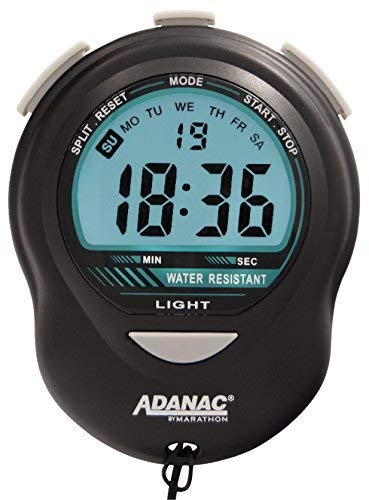 Jumbo Sport Watch - Marathon ST083013 Digital Stopwatch Timer with Back Light. Extra Large Display with Jumbo Numbers. Batteries Included. Color- Black.