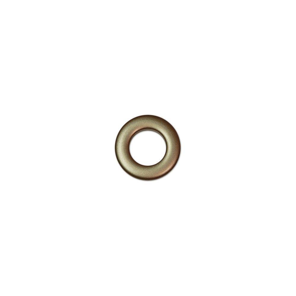 Oeillets à clipser pour rideaux coloris Bronze - diamètre 20mm - lot de 8 Faire des Rideaux