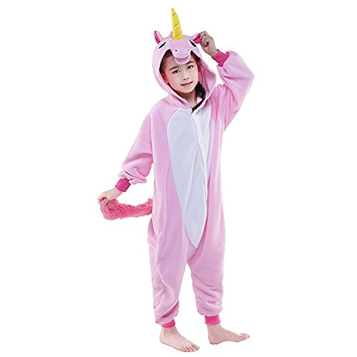 Party Carnevale Costume Animale Jumpsuit di Kigurumi Romper Pigiama Unicorno Sleepwear Natale Unicorn Compleanno Intero Pajama Cosplay Pink Landove Flanella Regalo per Onepiece Halloween Bambina Tutina Tuta fqZOAnzxw