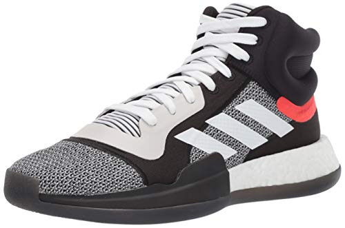 adidas Men's Marquee Boost Low, White/Black/aero Blue, 14 M US (Stores That Sell Size 14 Mens Shoes)
