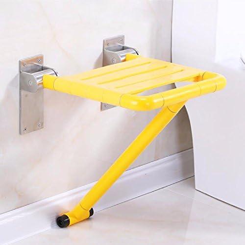 浴室用手すり 障害のない安全なバスルームは折り畳みの腰掛けの老人の入浴椅子の壁のベンチのナイロンの壁の椅子を折り畳みます,白