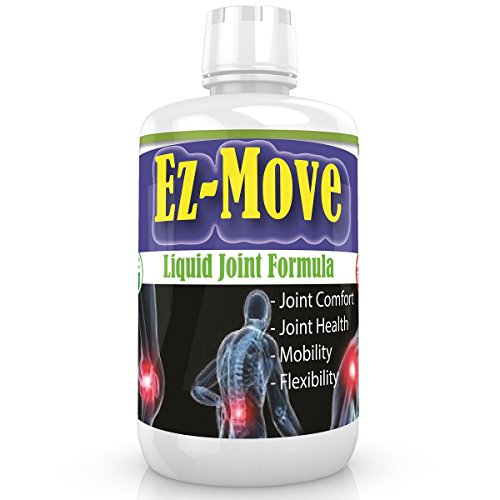 Ez Move - Liquid Formula│Extra Strength Joint Pain Relief Supplement│Easy to Swallow Liquid│Glucosamine Sulfate 1500mg + Chondroitin + MSM + Hyaluronic Acid│ Aches & Soreness│45 days supply
