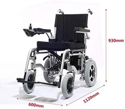 電動車椅子、折り畳み式のアルミ電動車椅子軽量折りたたみハンドブレーキと調節可能なアームレスト付き電動車椅子を運びます