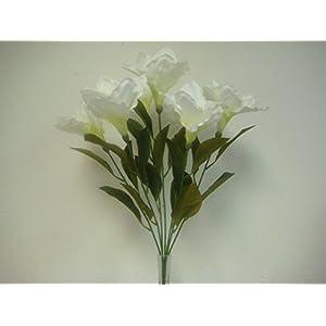 JumpingLight Cream Amaryllis Bush Satin Artificial Flowers 23'' Bouquet 7-781CR Artificial Flowers Wedding Party Centerpieces Arrangements Bouquets Supplies 37