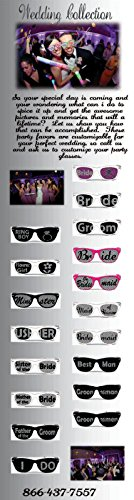 Wedding custom party glasses package of 25 printed glasses for weddig - Glasses Custom Printed