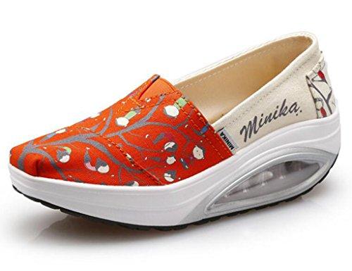 GFONE - Zapatos de tacón  de Lona mujer
