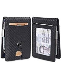 Money Clip Wallet ATLANTA Mens Front Pocket Slim RFID Blocking - Credit Card Holder - Mini Bifold, Carbon