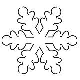 """Quilting Creations EL2QC Snowflake Quilt Stencil, 5 x 5-1/2"""""""
